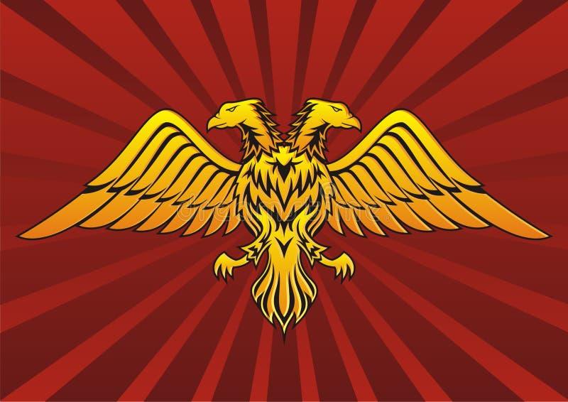 Deux ont dirigé l'aigle illustration de vecteur