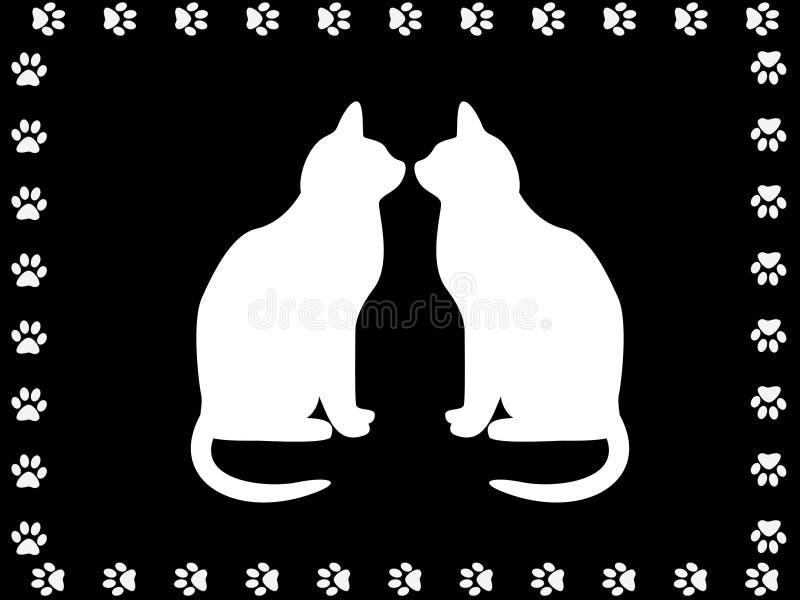 Deux ou trois chats illustration libre de droits
