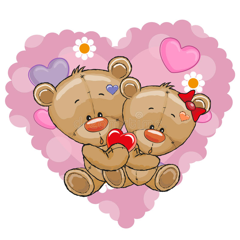 Deux ours illustration de vecteur