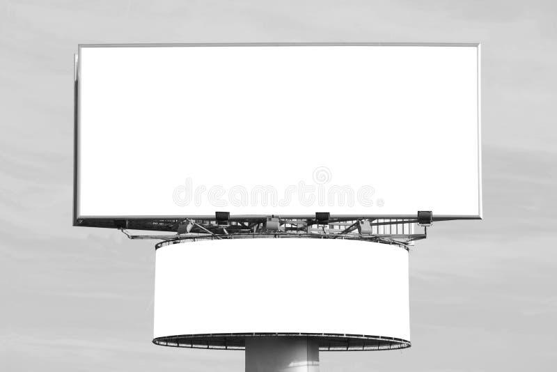 Deux panneaux-r?clame en blanc images libres de droits