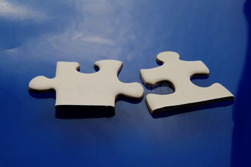 Deux parties adaptées image stock
