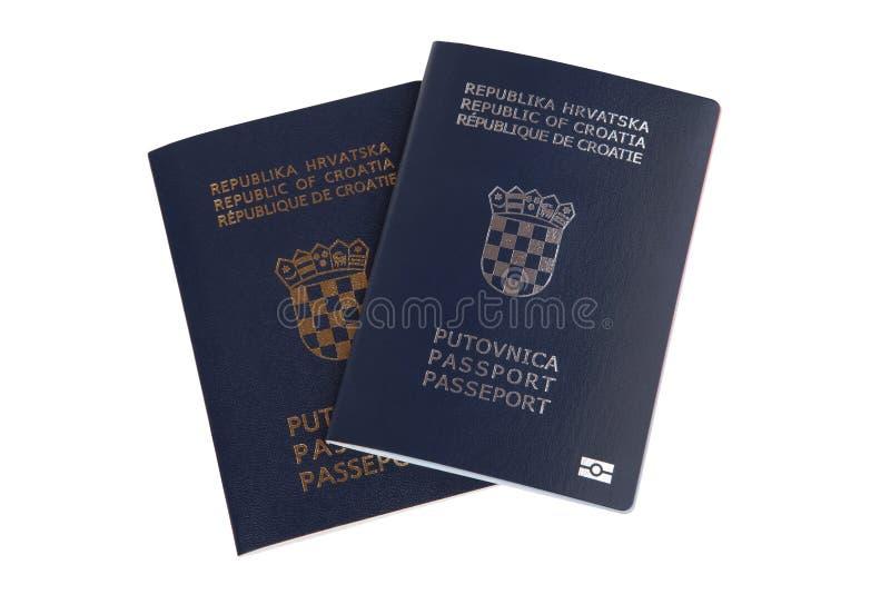 Deux passeports croates photographie stock libre de droits