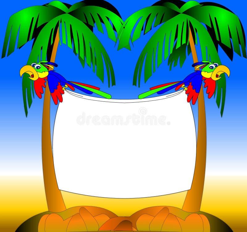 Deux perroquets illustration de vecteur