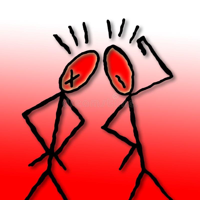 Deux personnes discutent - illustration conceptuelle dessinée à main levée illustration libre de droits