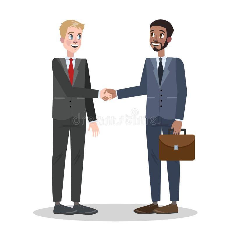 Deux personnes serrant leur main Affaire d'affaires illustration de vecteur