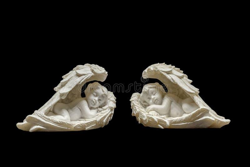 Deux petits anges dorment images libres de droits