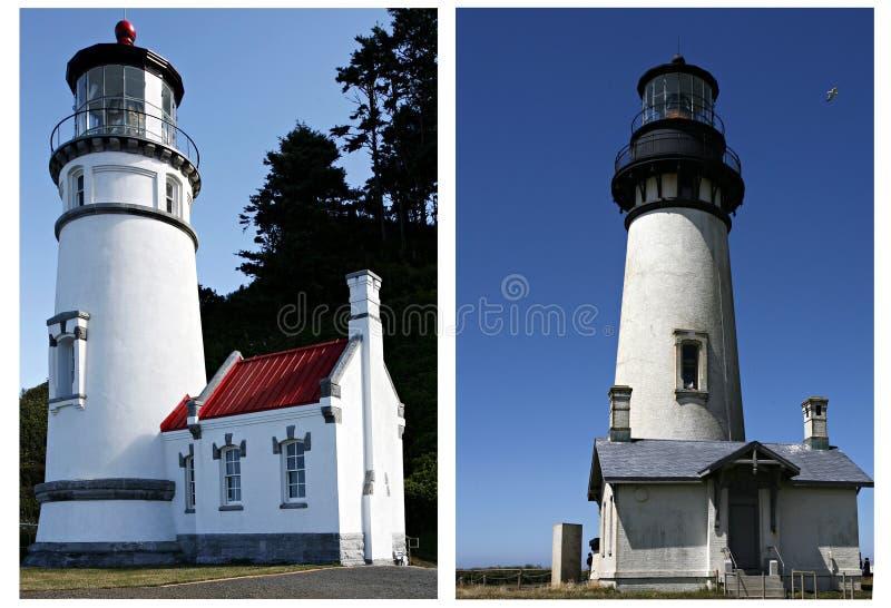 Deux phares photos libres de droits