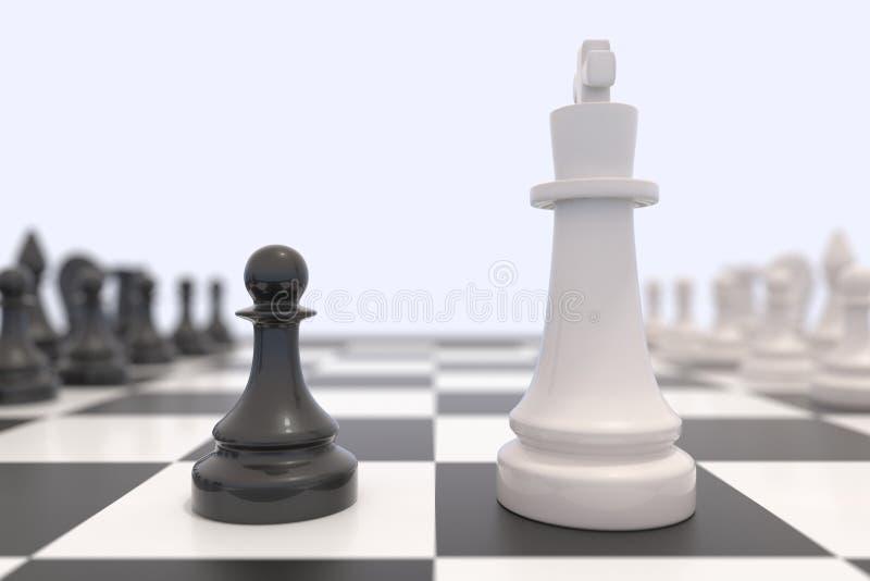 Deux pièces d'échecs illustration libre de droits