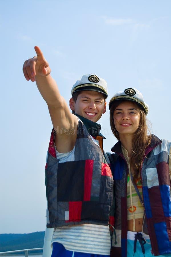 Deux pilotes. image libre de droits
