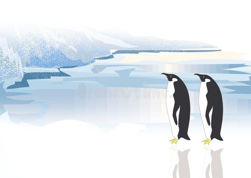 Deux pingouins illustration libre de droits