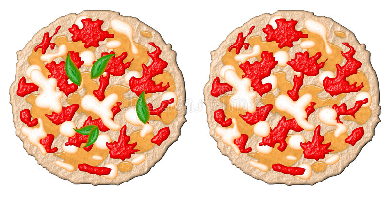 Deux pizzas illustration libre de droits
