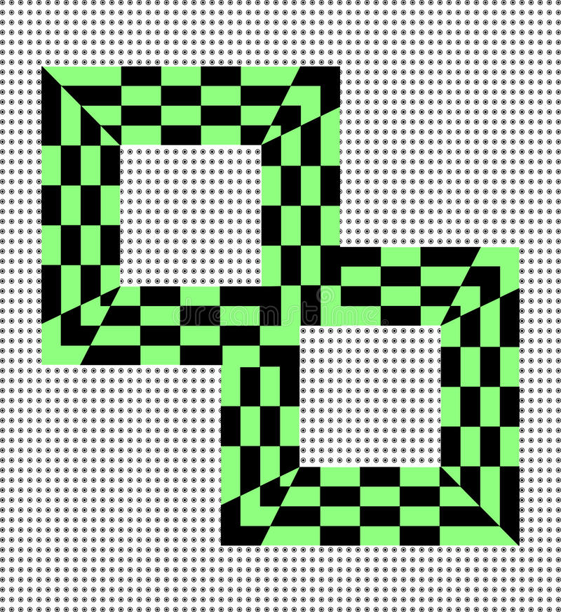 Deux places en cellule noire et verte illustration libre de droits