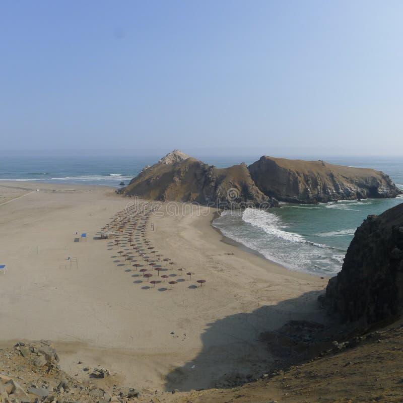 Deux plages aux sud de Lima, Pérou photo libre de droits