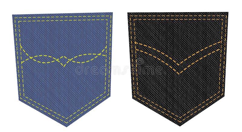 Deux poches de jeans illustration stock