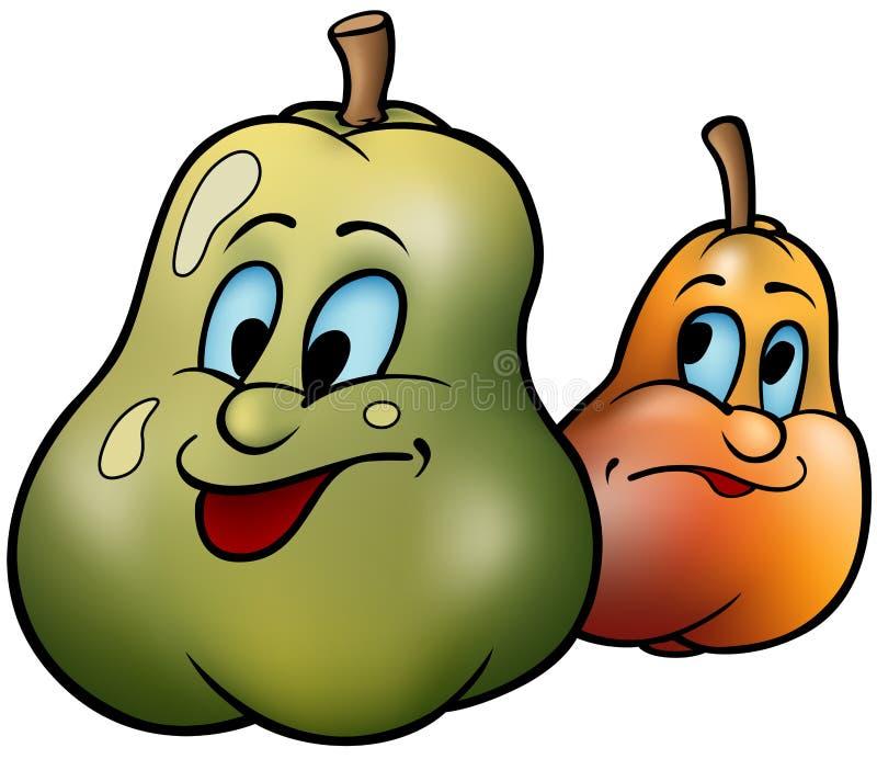Deux poires illustration de vecteur