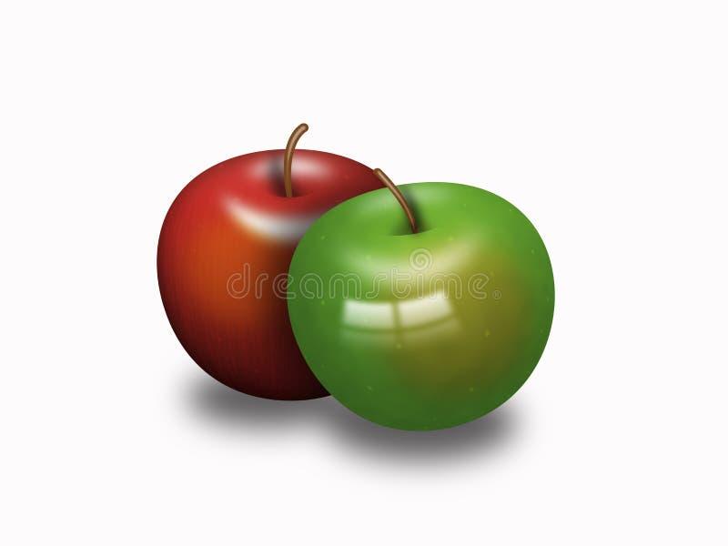 Download Deux pommes Delicious illustration stock. Illustration du doux - 8672025