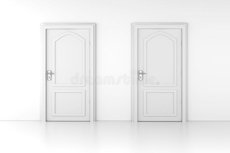 Deux portes illustration de vecteur