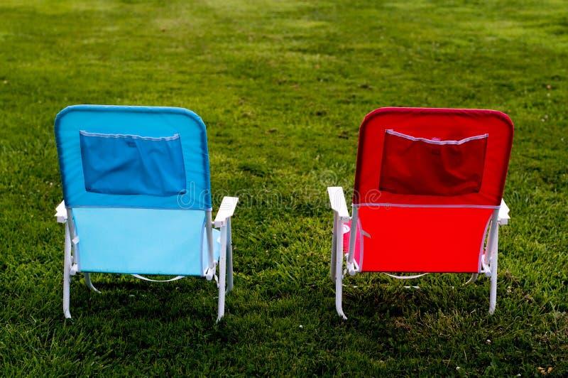 Deux présidences sur l'herbe photo libre de droits