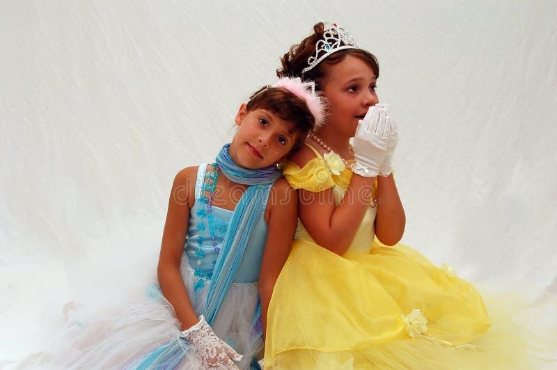 Deux princesses photo libre de droits