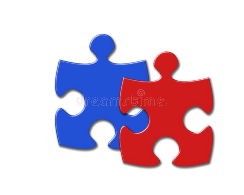 Deux puzzles illustration libre de droits