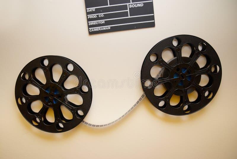 Deux rétro bobines de film de cinéma photographie stock libre de droits