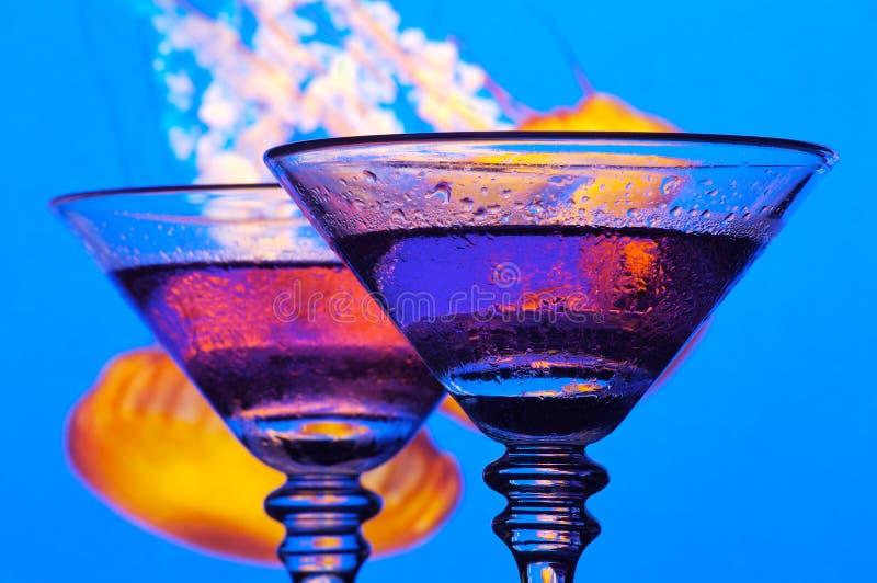 Deux raisin Martini photos stock