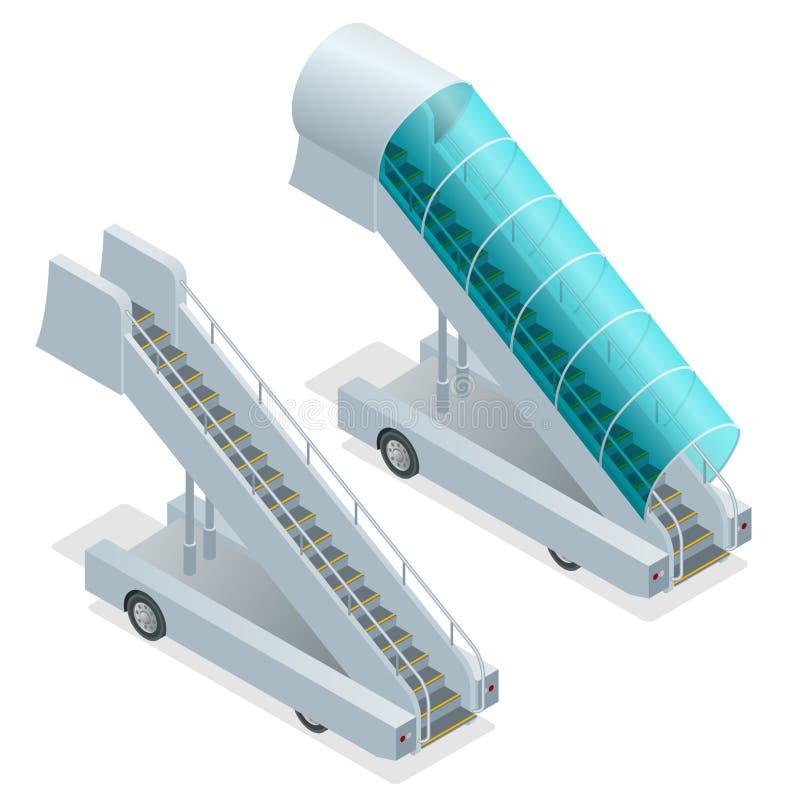 Deux rampes sur l'aérodrome Illustration d'isolement par rampe mobile Vecteur mobile de rampe Icône mobile ENV de rampe embarquer illustration libre de droits