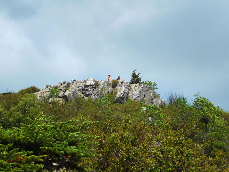 Deux randonneurs sur Wilburn Ridge photo libre de droits