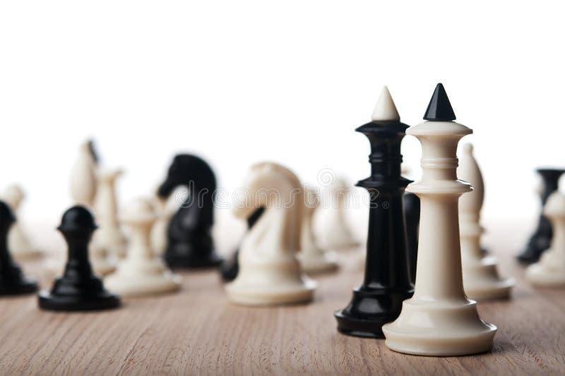Deux rois d'échecs image libre de droits