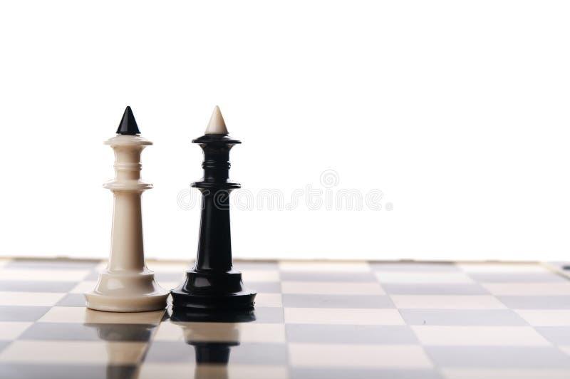 Deux rois d'échecs images libres de droits