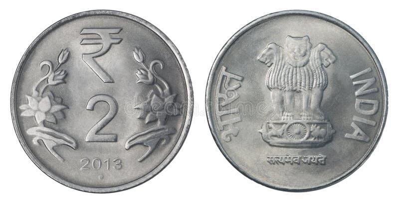 Deux roupies indiennes image stock