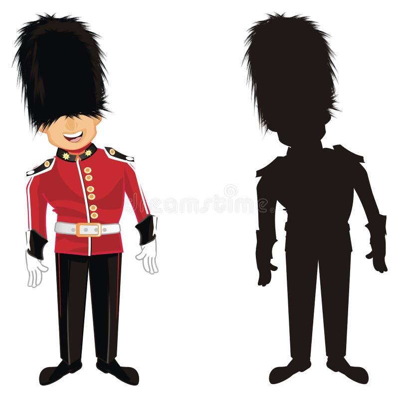 Deux supports de guardsmans illustration libre de droits