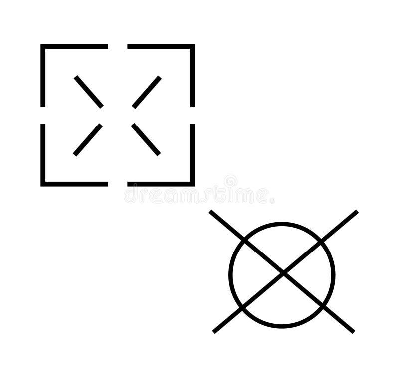 Deux symboles de portée d'UI illustration libre de droits