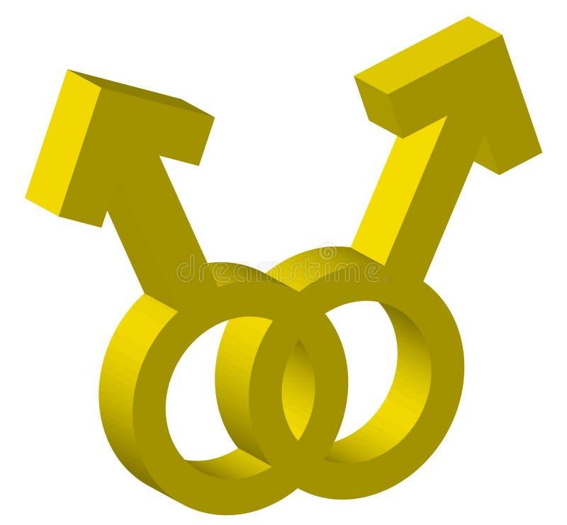 Deux symboles mâles illustration de vecteur