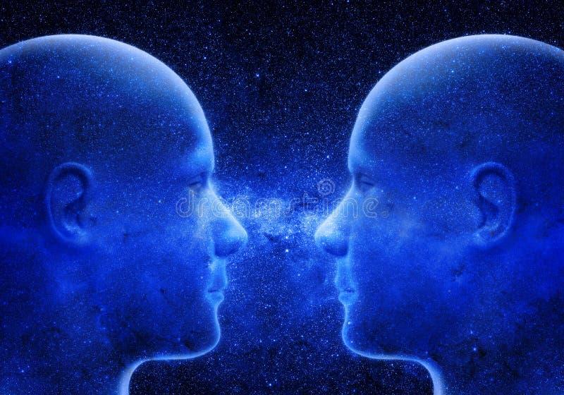 Deux têtes en de space illustration libre de droits