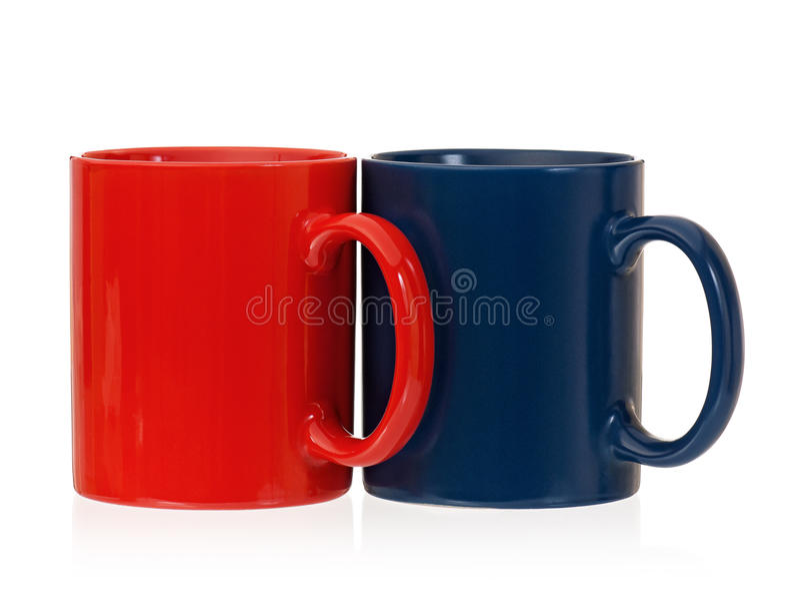 Deux tasses pour le thé ou le café photographie stock libre de droits