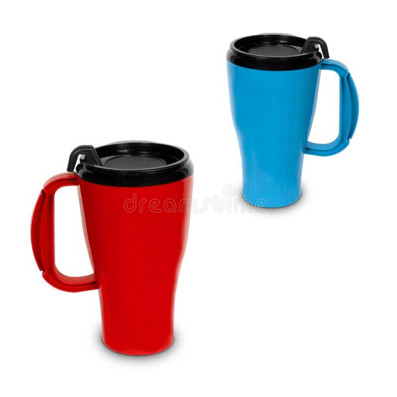 Deux tasses thermiques photo libre de droits