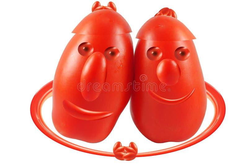 Deux tomates d'ami photographie stock libre de droits