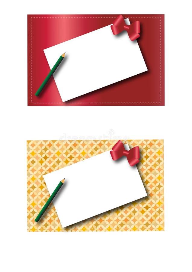 Deux trames 2 de Noël illustration de vecteur