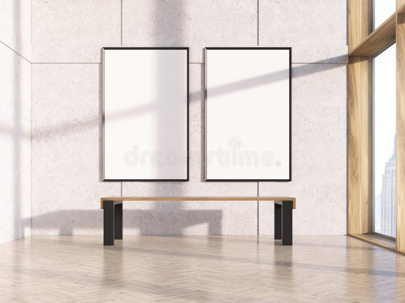 Deux trames en blanc illustration de vecteur