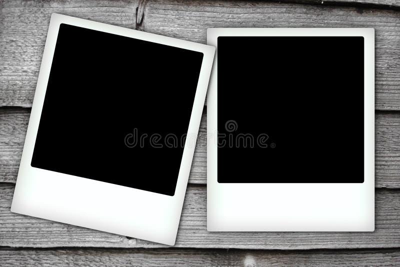Deux trames polaroïd illustration stock