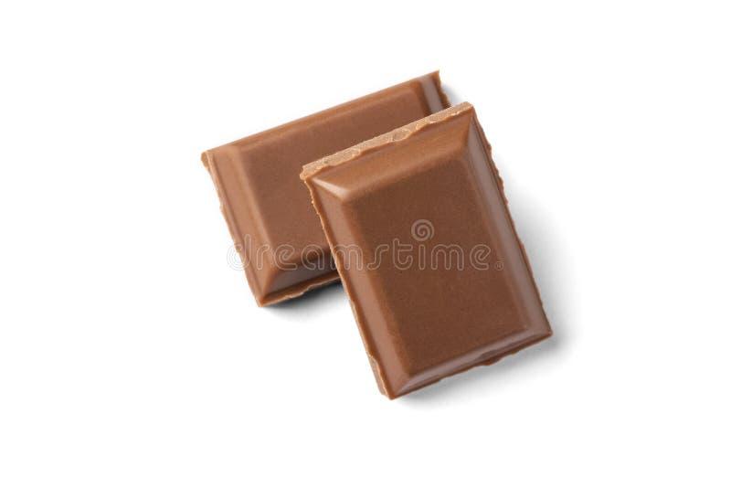 Deux tranches de chocolat au lait photo stock