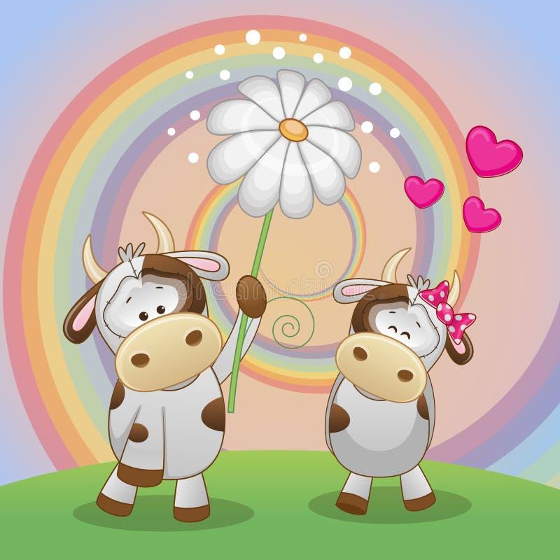 Deux vaches illustration stock