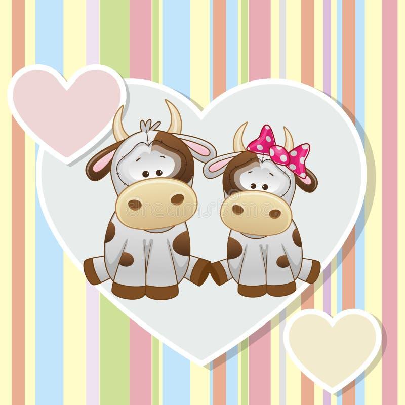 Deux vaches illustration libre de droits