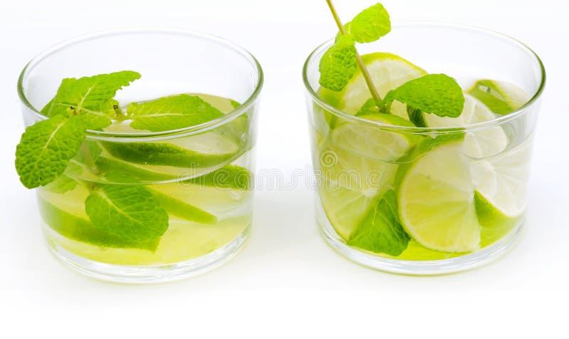 Deux verres de mojito images libres de droits