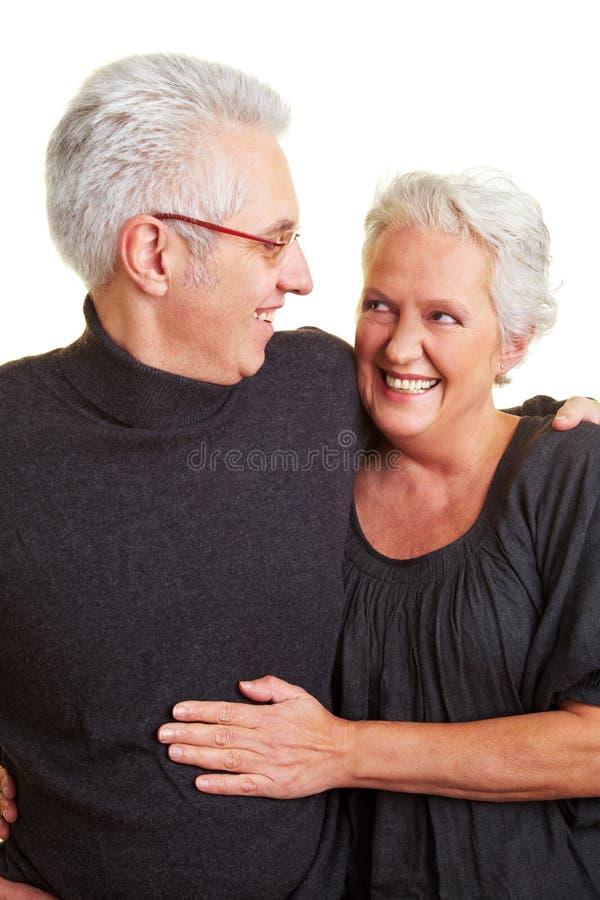 Deux vieillards heureux photographie stock