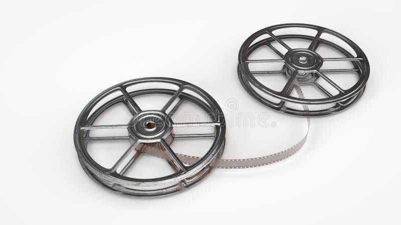 Deux vieilles bobines de film illustration de vecteur