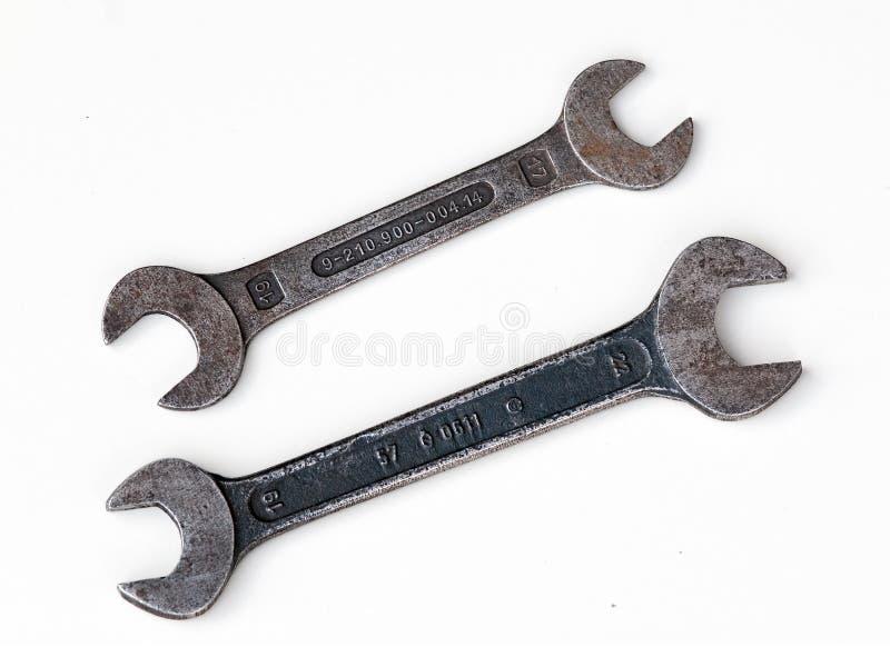 Deux vieilles clés images stock