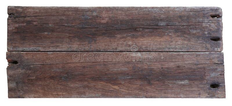 Deux vieilles planches de bois de flottage image stock