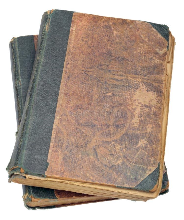 Deux vieux livres photo stock